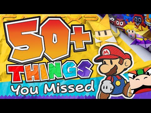 We Found 50+ NEW Details in Paper Mario: The Origami King's Reveal! (Ninja Town & a Luigi Lamp??)