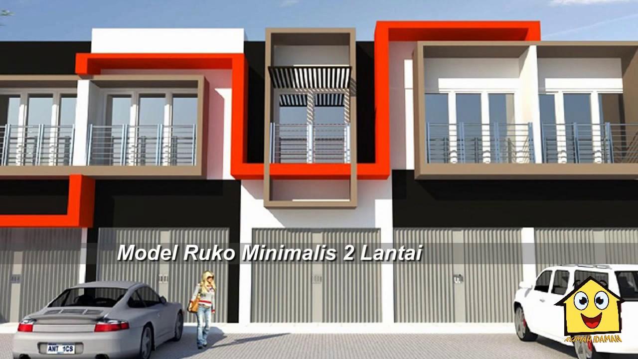 Desain Ruko Minimalis 2 Lantai Terbaru Yang Modern Youtube