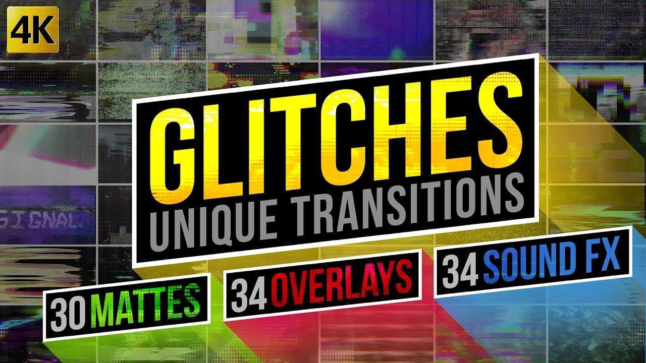 Glitch Transitions Pack 4K | Bogz