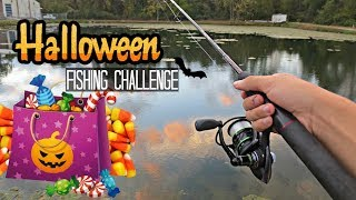 Halloween Candy Fishing Challenge!! (Craziness)