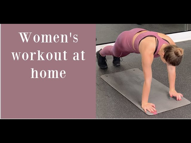 Women's workout at home