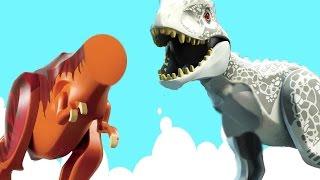 LEGO ДИНОЗАВРЫ - РЫБАЛКА - Без ЛАП и ГОЛОВЫ! Новые мульти Истории Для детей. Приз в каждом видео!
