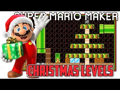 Super Mario Maker Christmas Levels LIVE!