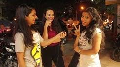 Girls talking on pubic hair in public