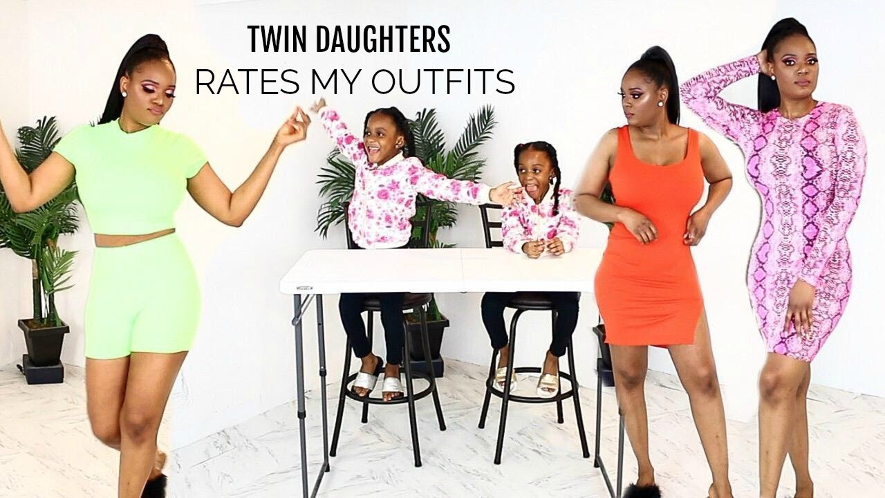 SUMMER TRY ON HAUL : TWIN DAUGHTERS RATES MY OUTFITS FT.  HOTMIAMISTYLES 9