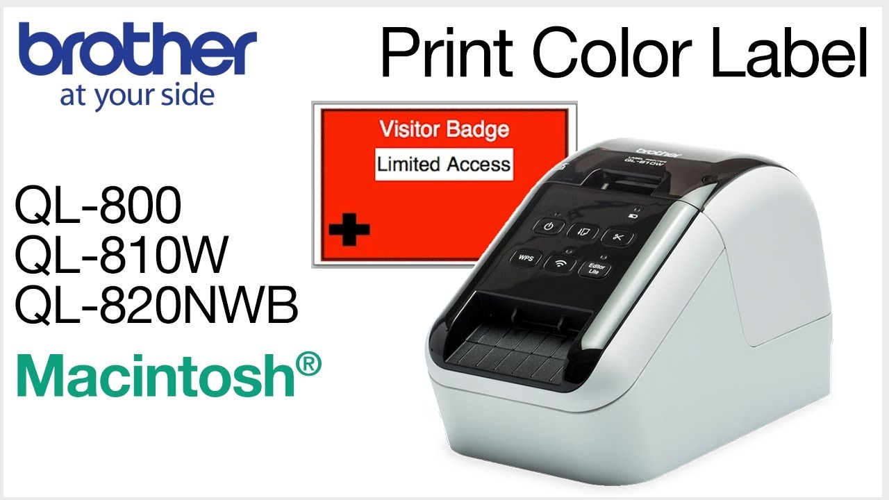 Print Red And Black Label On QL810W
