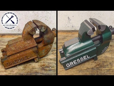 Rusty Deadlocked Vise - Perfect Restoration