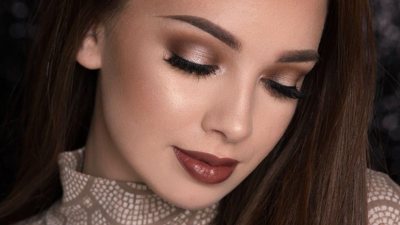 Spotlight Smokey Eye Amp Dark Glossy Lips Makeup Tutorial