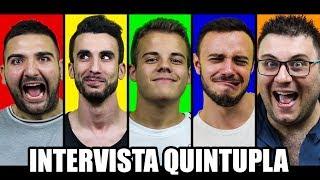 INTERVISTA QUINTUPLA | Enry Lazza, Fius Gamer, Ohm, Tony Tubo, T4tino23