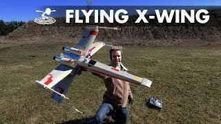 We're going to try to not crash this... - Real flying X-wing