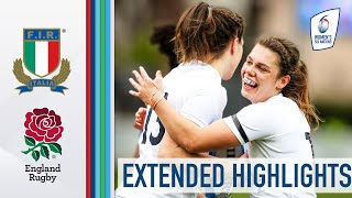 Italy v England EXTENDED HIGHLIGHTS Dow Doubles Up In High Scorer 2021 Women s Six Nations