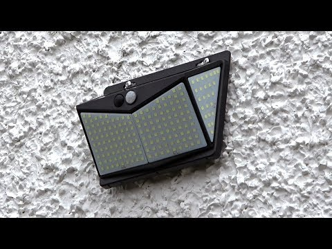 Nacinic Solar Outdoor Lights 208 Led Security Wall Lights