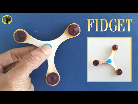 Slim Fidget Spinner without Bearing - Handmade   DIY Tutorial by Paper Folds - 711