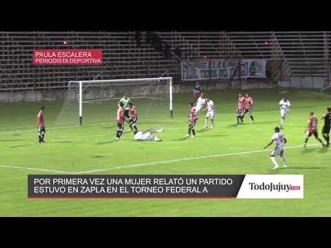 Por primera vez en Jujuy una mujer relató un partido de fútbol