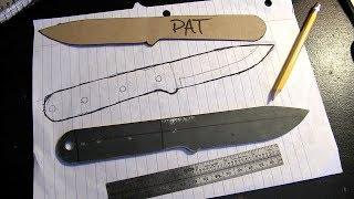 Making a knife blank, start to finish.