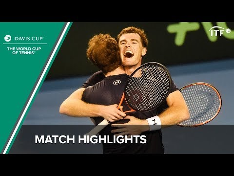 Highlights: Andy Murray/Jamie Murray (GBR) v Sam Groth/Lleyton Hewitt (AUS)