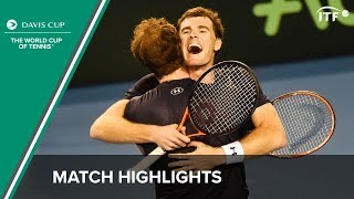 Highlights: Andy Murray/Jamie Murray (GBR) v Sam Groth/Lleyton Hewitt (AUS)