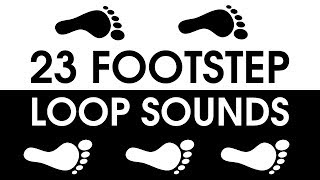 Repeat youtube video 23 FOOTSTEPS Looping Sound Pack [FREE DOWNLOAD]
