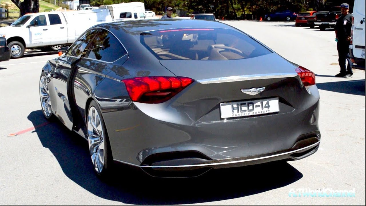 2015 Hyundai Genesis HCD-14 Concept Engine Sound & Driving on the Road ...