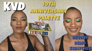 NEW KAT VON D 10TH ANNIVERSARY PALETTE | REVIEW,  SWATCHES, AND DEMO | BEAUTY BY KANDI