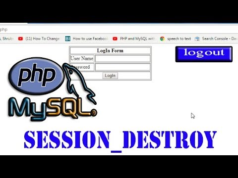 PHP-MySQLi Series 11.7 || How To Destroy Session