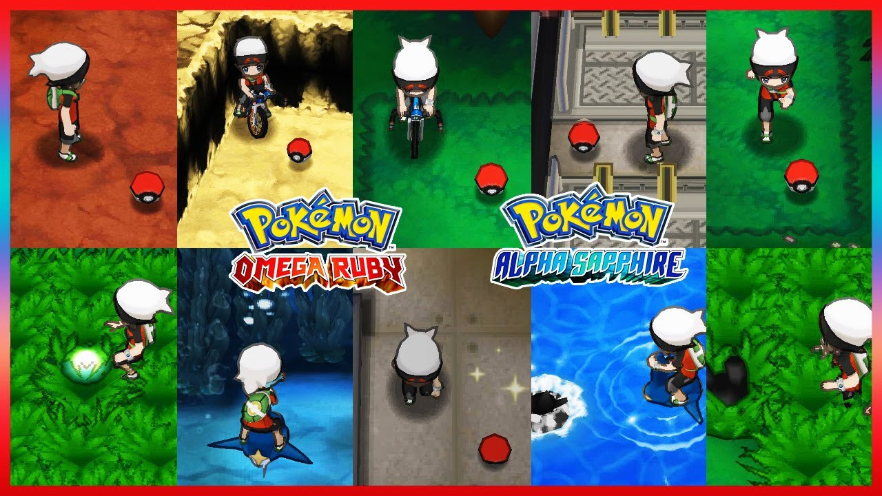 Pokemon Omegaruby Alphasapphire All Evolution Stone Item Locations Youtube