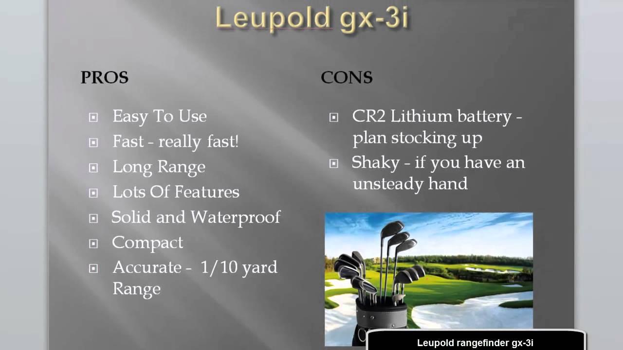 Leupold rangefinders | Leupold gx-3i | Leupold gx-3