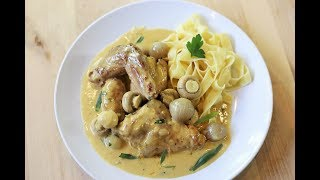 Rabbit In Creamy Mustard Sauce | Classic French Recipes