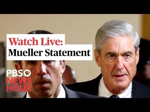WATCH: Robert Mueller makes 1st public statement on Russia probe