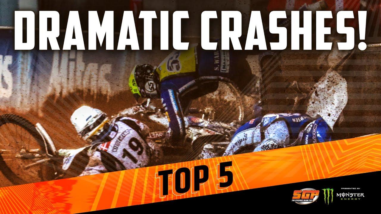 DRAMATIC SPEEDWAY GP CRASHES! | FIM Speedway Grand Prix