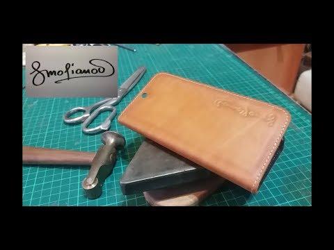 Кожаный чехол для смартфона. Leather Case For Smartphone.