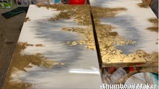 Resin Art-Epoxy painting_on wood