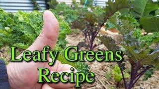 Shredded Leafy Vegetables with Pork Loin Stir Fry Recipe