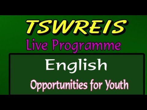 TSWREIS || English - Opportunities For Youth || Live With M Lahari (Student & Team)