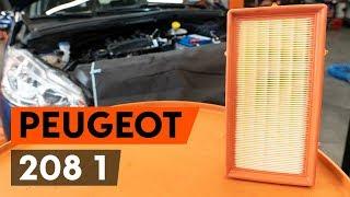 Jak wymienić filtr powietrza / filtr silnikaw w PEUGEOT 208 1 (CA_,CC_) [PORADNIK AUTODOC]