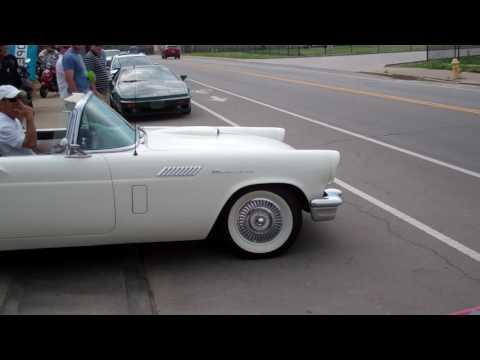 '57 T-Bird leaving Fuel Cars & Coffee Cincinnati 5/28/16