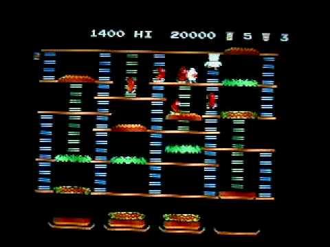 Burgertime Comparision Video (Atarti 2600, Colecovision, NES, Intellivision versions)