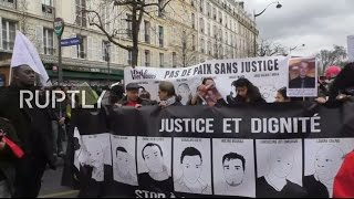 LIVE  March against police brutality and racism in Paris