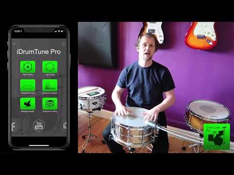 Snare Drum Tuning - Ludwig Supralite 14x6.5 Steel - iDrumTune Pro drum tuner app