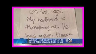Breaking News | Woman escapes armed boyfriend after passing note to dog