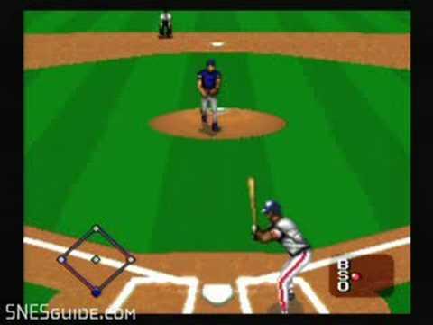 MLBPA Baseball - SNES Gameplay