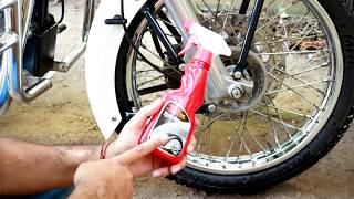 How to clean Tyre and Rim of motorcycle