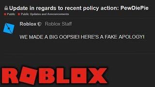 ROBLOX's (Poor) Response to the PewDiePie Ban Backlash