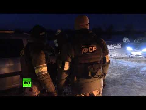 Видеокадры с места ликвидации террористов в Саратовской области