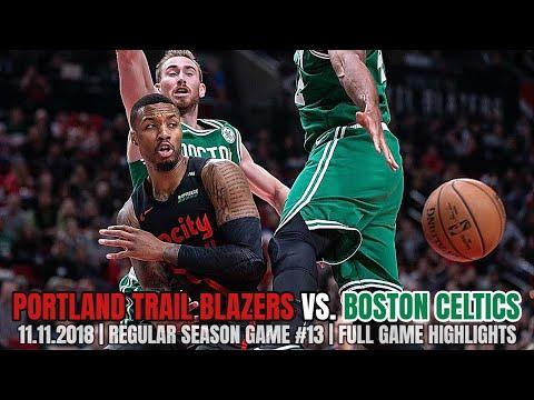 Portland Trail Blazers vs Boston Celtics - Full Game Highlights - November 11, 2018