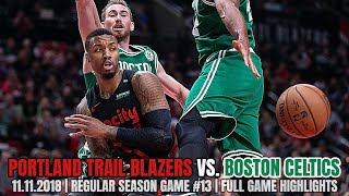Portland Trail Blazers vs Boston Celtics - Full Game Highlights - November 11, 2018