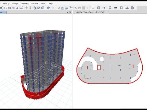 Tutorial 2 Etabs Modeling Of 15 Story Building 2 Basements Ground 12 Floors Youtube