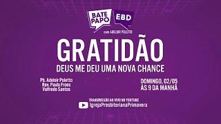 BATE PAPO EBD - Domingo, 02/05, às 9 da manhã