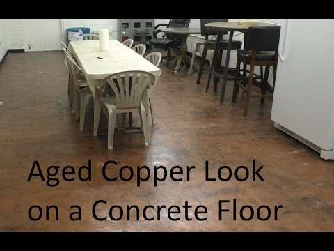 Aged Copper Look On A Concrete Floor Youtube