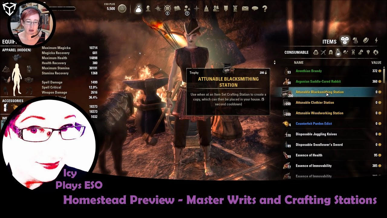 Crafting Stations Eso Homestead